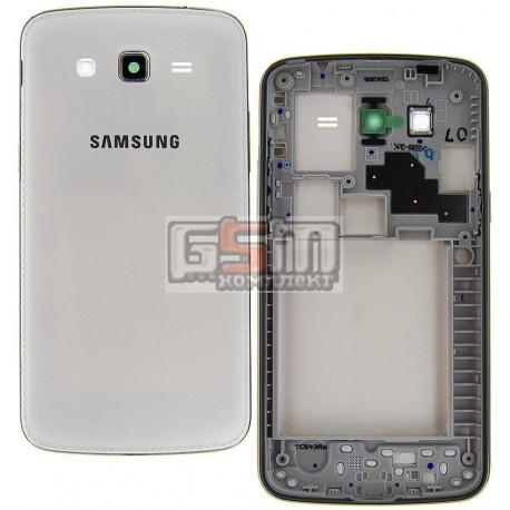 Корпус для Samsung G7102 Galaxy Grand 2 Duos, белый