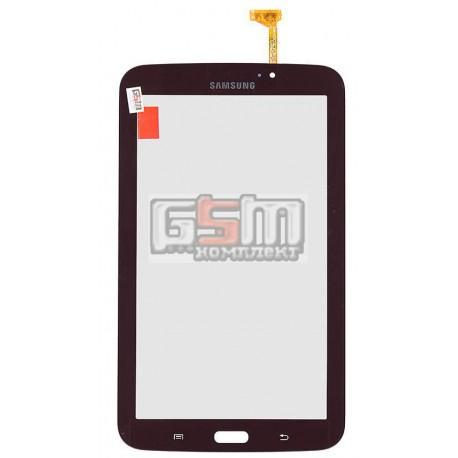 Тачскрін для планшету Samsung P3200 Galaxy Tab3, P3210 Galaxy Tab 3, T210, T2100 Galaxy Tab 3, T2110 Galaxy Tab 3, бронзовий, (версія Wi-fi)
