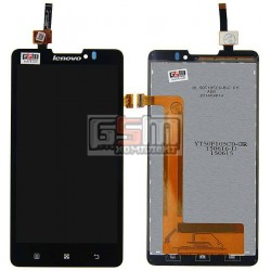 Дисплей для Lenovo P780, черный, с сенсорным экраном (дисплейный модуль), #YT50F105C0-GR/BL50F105W0-B-F