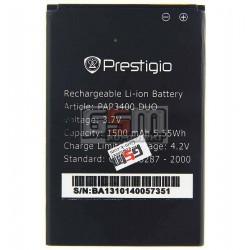 Аккумулятор для Prestigio MultiPhone 3400 Duo, оригинал, (Li-ion 3.7V 1500mAh)