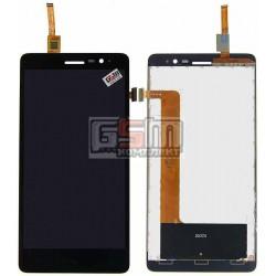 Дисплей для Lenovo S860, черный, с сенсорным экраном (дисплейный модуль)