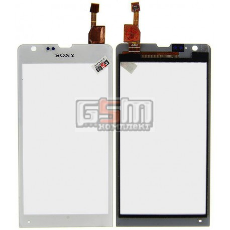 Тачскрин для Sony C5302 M35h Xperia SP, C5303 M35i Xperia SP, белый