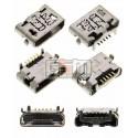 Коннектор зарядки для планшета Asus FonePad 7 FE170CG; мобильных телефонов HTC S710e Incredible S; Sony D2004 Xperia E1, D2005 Xperia E1, D2104 Xperia E1 DS, D2105 Xperia E1 DS, D2114 Xperia E1 TV, 5 pin, micro-USB тип-B