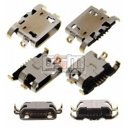 Коннектор зарядки для планшета Lenovo IdeaPad S6000; мобильных телефонов Lenovo A319, A536, A6000, A6000T, A6010, A670, A7020 Vibe K5 Note, A830, A850, A859, K3 (K30-T), P780, S650, S820; Xiaomi Redmi Note 4, 5 pin, micro-USB тип-B