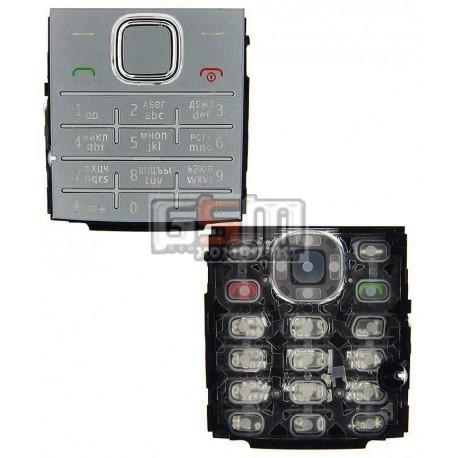 Клавиатура для Nokia X2-00, серебристая, русская