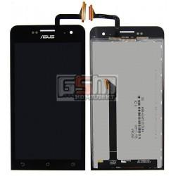 Дисплей для Asus ZenFone 5 (A500CG), ZenFone 5 (A500KL), ZenFone 5 (A501CG), черный, с сенсорным экраном (дисплейный модуль)