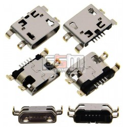 Коннектор зарядки для Fly DS131, FS504, IQ436i Era Nano 9, IQ440, IQ4404, IQ4418, IQ4490, IQ4504 Quad EVO Energy 5, IQ456 Era Life 2, IQ4601 Era Style 2; Lenovo A706; планшетов Fly Flylife Connect 10.1 3G 2, Flylife Connect 7.85 3G 2, Flylife Connect 7.85