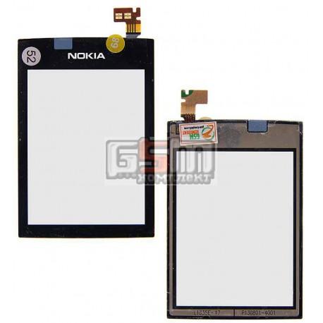 Тачскрин для Nokia 300 Asha, черный, копия