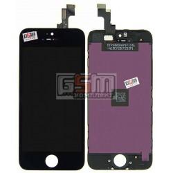 Дисплей для iPhone 5S, iPhone SE, черный, high-copy, с сенсорным экраном (дисплейный модуль), с рамкой