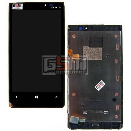 Дисплей для Nokia 920 Lumia, с сенсорным экраном (дисплейный модуль), с рамкой