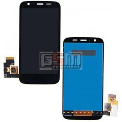 Дисплей для Motorola XT1032 Moto G, XT1033 Moto G, XT1036 Moto G, черный, с сенсорным экраном (дисплейный модуль)