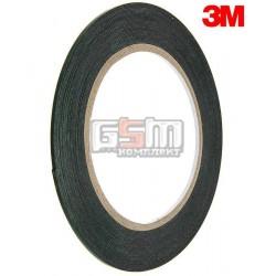 Двухсторонний скотч на вспененной основе, ширина 2мм, длина 10м, толщина 0.5 мм, черный