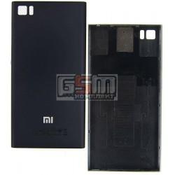 Задняя крышка батареи для Xiaomi Mi3, черная