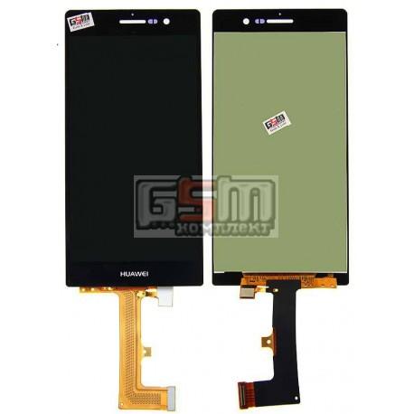 Дисплей для Huawei Ascend P7, черный, с сенсорным экраном (дисплейный модуль)