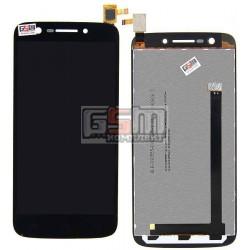 Дисплей для Prestigio MultiPhone 5508 Duo, черный, с сенсорным экраном (дисплейный модуль), #BLB-S90556-DI050FH-1/FPC-S80212-1 V