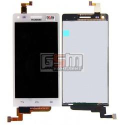 Дисплей для Huawei Ascend G6-U10, белый, с сенсорным экраном (дисплейный модуль)