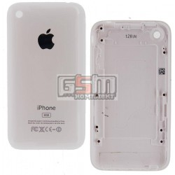 Задняя панель корпуса для Apple iPhone 3G, белая, high copy