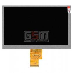 Экран (дисплей, монитор, LCD) для китайского планшета 7, 40 pin, с маркировкой HJ070NA-13A, EJ070NA, AT070TNA2 V.1, FPC-N070-40A, 32130915-P08-E, разрешением 1024*600, размер 166*105мм