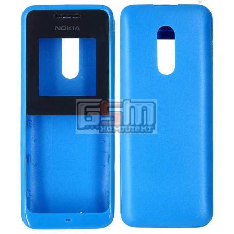 Корпус для Nokia 105, синий, high-copy, передняя и задняя панель