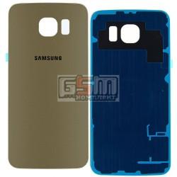 Задняя панель корпуса для Samsung G920F Galaxy S6, золотистая, high copy