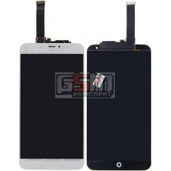 """Дисплей для Meizu MX4 5.3"""", белый, с сенсорным экраном (дисплейный модуль)"""