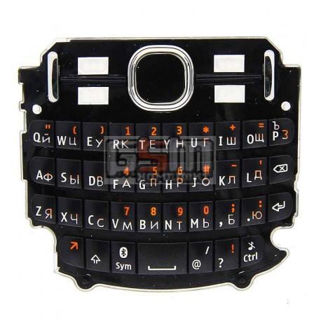 Клавиатура для Nokia 200 Asha, черный, русская
