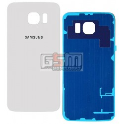 Задняя панель корпуса для Samsung G920F Galaxy S6, белая, high copy
