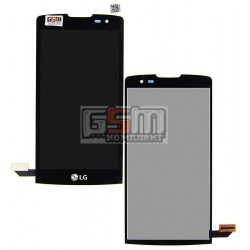 Дисплей для LG H320 Leon Y50, H324 Leon Y50, H340 Leon, H345 Leon LTE, MS345 Leon LTE, черный, с сенсорным экраном (дисплейный м