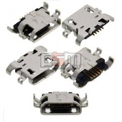 Коннектор зарядки Micro-USB для Nous NS 5006; Fly IQ4406; Lenovo A850, P780, S820, 5 pin, original, тип-B, #3.H-2103-B05A51-000/H-2103-B05A51-000