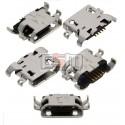 Коннектор зарядки для Nous NS 5006; Fly IQ4406; Lenovo A850, P780, S820, 5 pin, original, micro-USB тип-B, 3.H-2103-B05A51-000/H-2103-B05A51-000