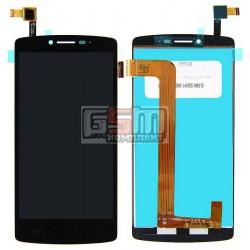 Дисплей для Prestigio MultiPhone 5550 Duo, черный, с сенсорным экраном (дисплейный модуль)