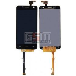 Дисплей для Alcatel One Touch 6012 Idol Mini Sate, черный, с сенсорным экраном (дисплейный модуль)