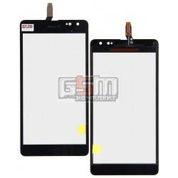 Тачскрин для Microsoft (Nokia) 535 Lumia Dual SIM, черный, #CT2C1607FPC-A1-E