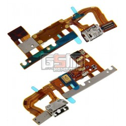 Шлейф для Huawei Ascend P6-U06, коннектора зарядки, с компонентами