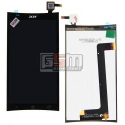 Дисплей для Acer Liquid E700, черный, с сенсорным экраном (дисплейный модуль)