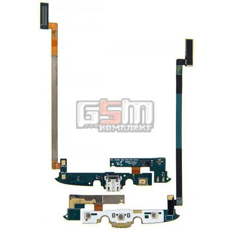 Шлейф для Samsung I537, I9295 Galaxy S4 Active, коннектора зарядки, с компонентами