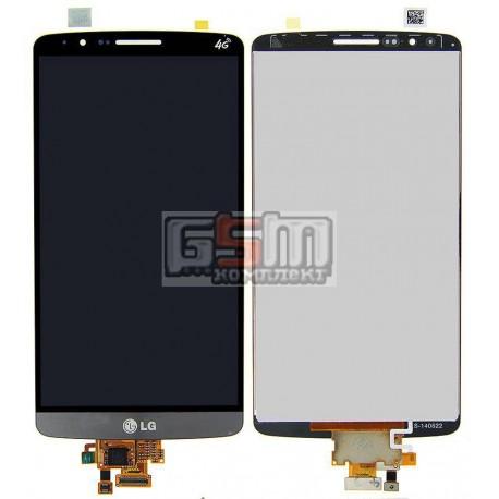 Дисплей для LG G3 D855, G3 D856 Dual, серый, original (PRC), с сенсорным экраном (дисплейный модуль)