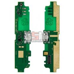 Шлейф для Lenovo S650, коннектора зарядки, микрофона, с компонентами, (плата зарядки)