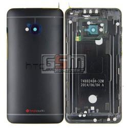 Задняя панель корпуса для HTC One M7 801e, черная