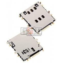 Коннектор SIM для Samsung SM-T531 Galaxy Tab 4 10.1, Galaxy Tab 3 SM-T111 3G 7, Galaxy Tab 4 8.0 SM-T331, Galaxy Tab S 8.4 SM-T705, SM-T561 Galaxy Tab