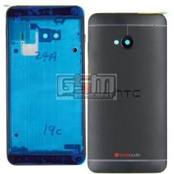 Корпус для HTC One M7 801e, черный