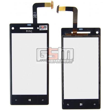 Тачскрин для HTC C620e Windows Phone 8X, черный