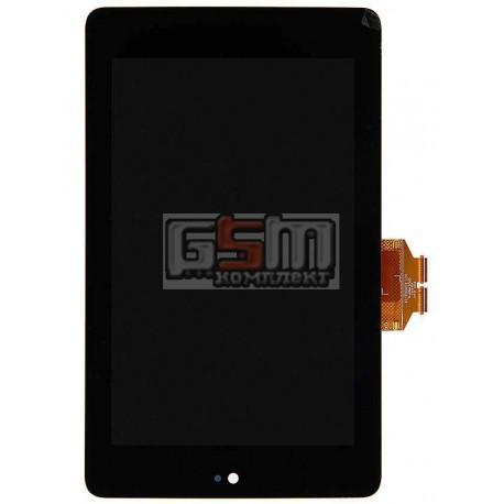 Дисплей для планшета Asus Nexus 7 google, черный, с сенсорным экраном (дисплейный модуль)