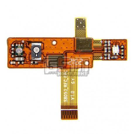 Шлейф для Fly IQ255 Pride, оригінал, динаміка, з датчиком приближення, з компонентами, N808-D20000-110