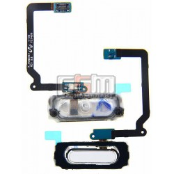 Шлейф для Samsung G900F Galaxy S5, G900H Galaxy S5, белый, кнопки меню, с компонентами