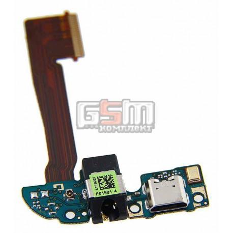 Шлейф для HTC One M8, One M8s, коннектора зарядки, микрофона, с компонентами, 16Gb