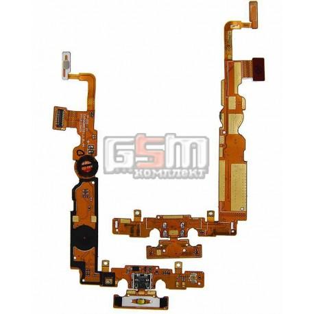 Шлейф для LG P715 Optimus L7 II, коннектора зарядки, с компонентами