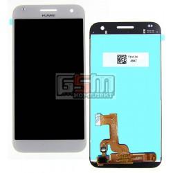 Дисплей для Huawei Ascend G7, белый, с сенсорным экраном (дисплейный модуль)