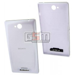 Задняя панель корпуса для Sony C2305 S39h Xperia C, белая