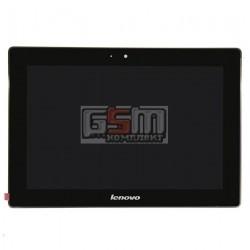 Дисплей для планшета Lenovo IdeaPad S6000, черный, с сенсорным экраном (дисплейный модуль), с рамкой, (версия 3G), #BP101WX1-206/MCF-101-0887-V2